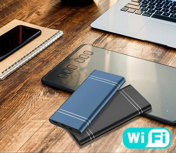 Wi-Fi 4K power bank with night vision and motion detection