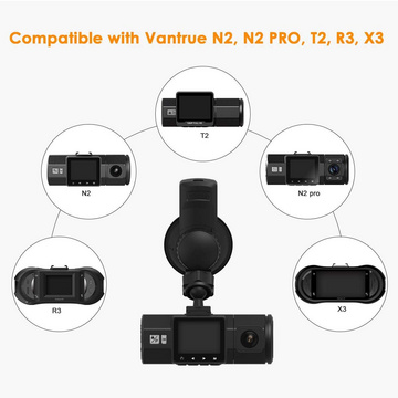 Vantrue Dual Dash Cams Car Dashboard Camera and GPS Mount Holder