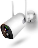 External surveillance camera with battery, 1080P WiFi with 10400 mAh battery, night vision, two-way sound, waterproof
