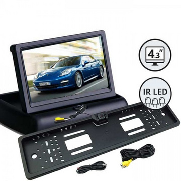 "Vzvratna kamera z zaslonom 4,3"" komplet Reversing camera with 4.3 ""monitor / Built-in"