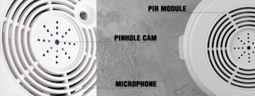 Private-Eye WiFi camera in smoke sensor