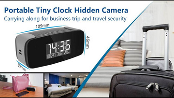 HD 1080P Tiny Clock Wi-Fi Security Camera