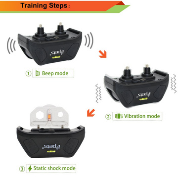 Electronic collar for larger dogs with a range of up to 800m