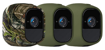 2x UV resistant silicone covers in green, 1x UV-resistant silicone cover in camouflage colour